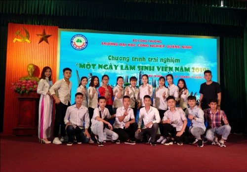 """A student day"" at Quangninh University of Industry"