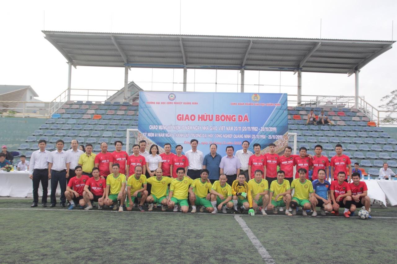 Giao lưu bóng đá chào mừng ngày Nhà giáo Việt Nam 20/11 và 61 năm thành lập trường
