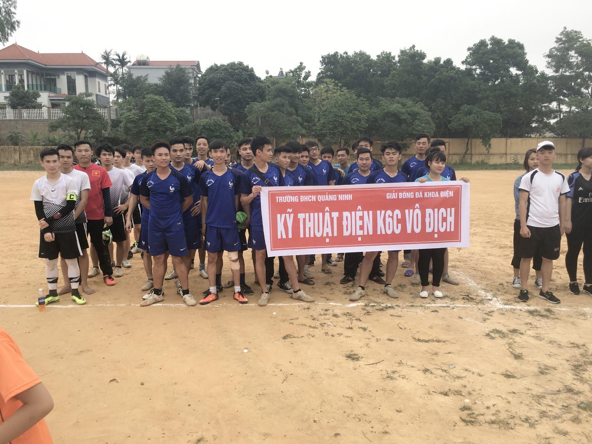 Giải bóng đá nam khoa Điện năm 2017 thành công tốt đẹp