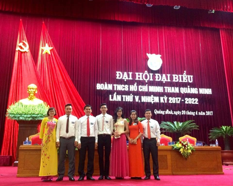 Đoàn đại biểu trường Đại học Công nghiệp Quảng Ninh dự Đại hội Đoàn Than Quảng Ninh lần thứ V, nhiệm kỳ 2017 - 2022