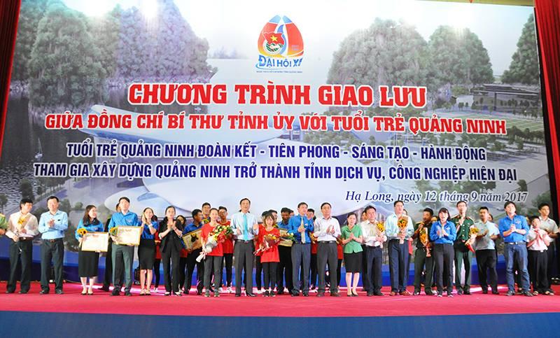 ĐVTN trường Đại học CNQN tham gia chương trình giao lưu giữa đồng chí Bí thư Tỉnh ủy với tuổi trẻ Quảng Ninh