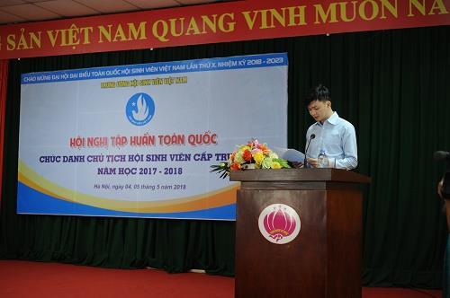 Trường ĐHCNQN tham dự Hội nghị tập huấn Toàn quốc  Chức danh Chủ tịch Hội Sinh viên cấp trường năm học 2017 - 2018