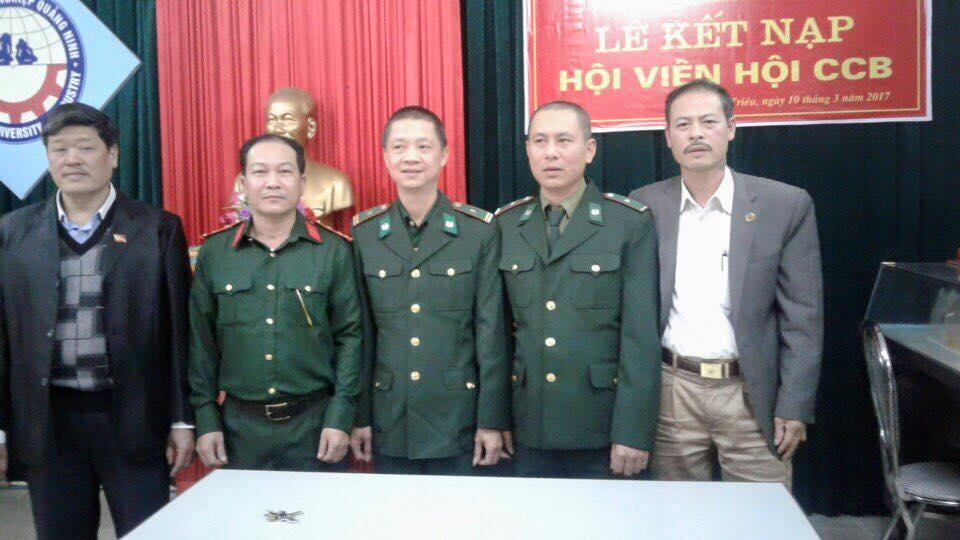 Hội Cựu chiến binh trường Đại học Công nghiệp Quảng Ninh kết nạp hội viên mới