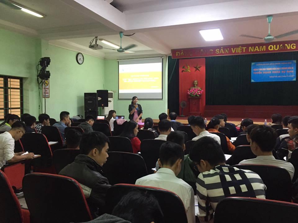 Công ty TNHH KHKT Texhong Ngân Long, Ngân Hà tuyển dụng lao động tại trường Đại học Công nghiệp Quảng Ninh