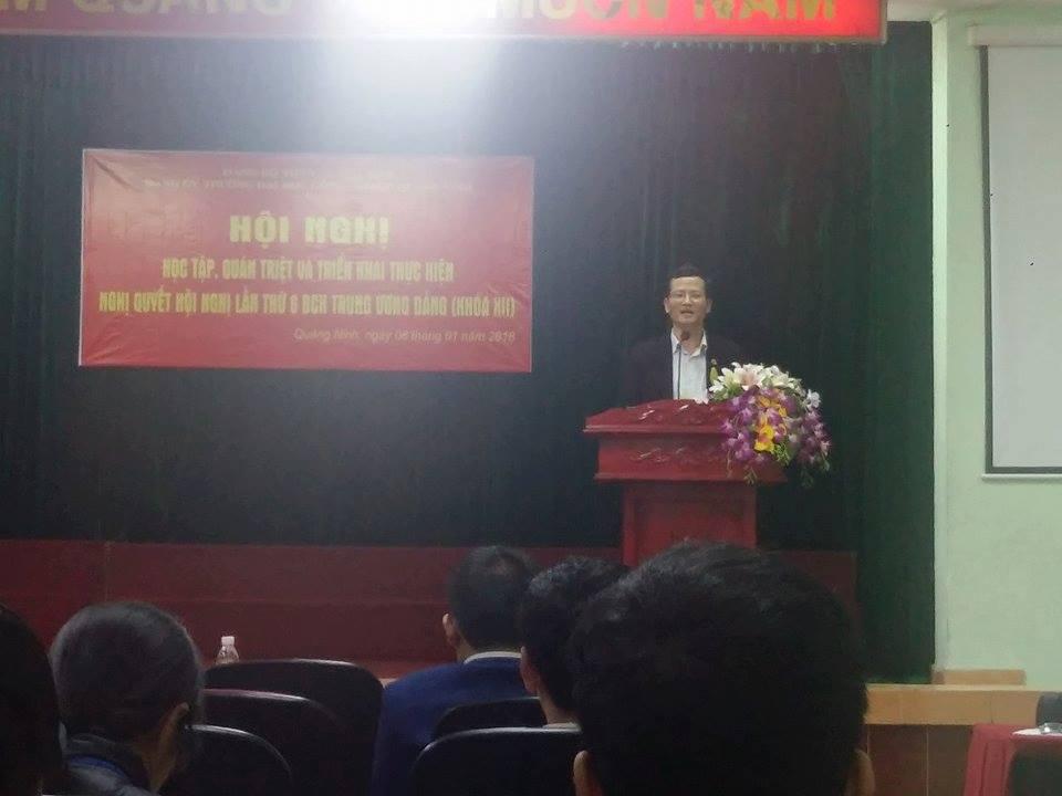 Trường đại học công nghiệp Quảng Ninh học tập, quán triệt Nghị quyết Trung ương 6 khóa XII.