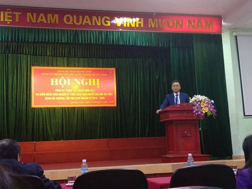 Đảng bộ trường Đại học CNQN tổng kết công tác Đảng năm 2017, triển khai nhiệm vụ năm 2018