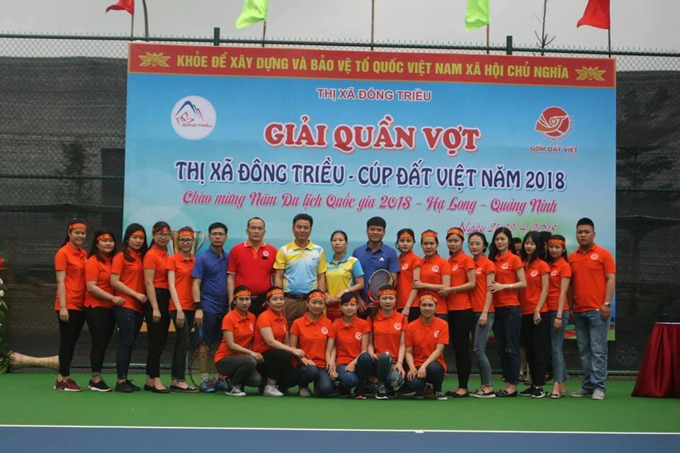 Trường Đại học Công nghiệp Quảng Ninh  tham gia giải Quần vợt thị xã Đông Triều- Cúp Đất Việt năm 2018