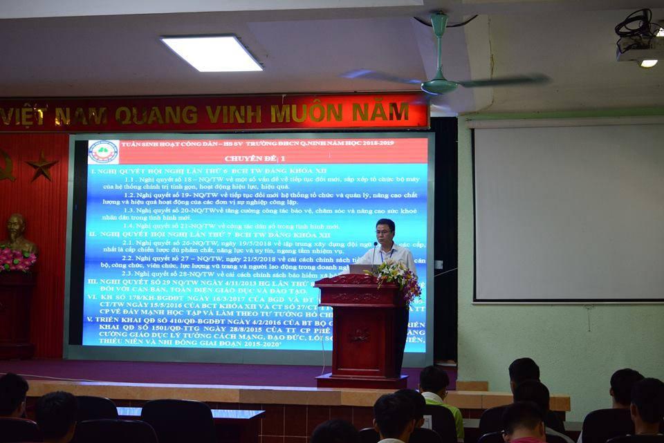 """Tuần """"Sinh hoạt công dân - Học sinh sinh viên"""" năm học 2018-2019"""