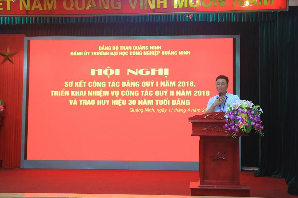 Đảng ủy trường Đại học Công nghiệp Quảng Ninh tổ chức Hội nghị Sơ kết công tác Đảng Quý I, triển khai nhiệm vụ Quý II năm 2018