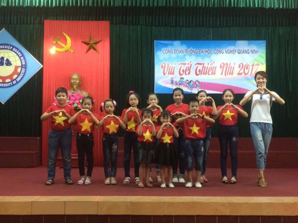 Trường Đại học Công nghiệp Quảng Ninh tổ chức Tết thiếu nhi 1/6 cho các cháu thiếu niên, nhi đồng