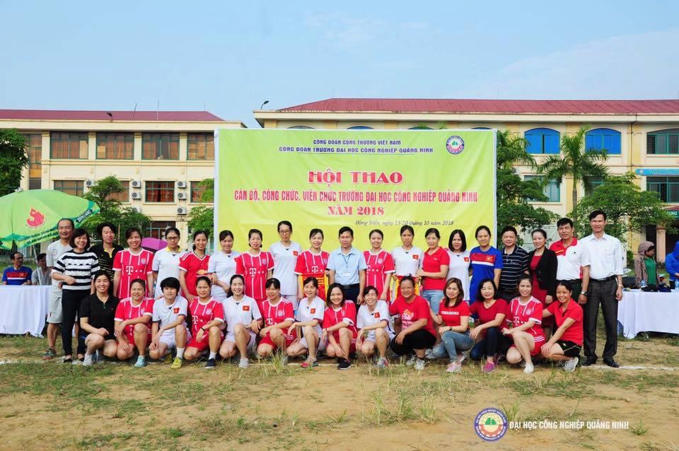 Khai mạc Hội thao CBCCVC trường Đại học Công nghiệp Quảng Ninh năm 2018
