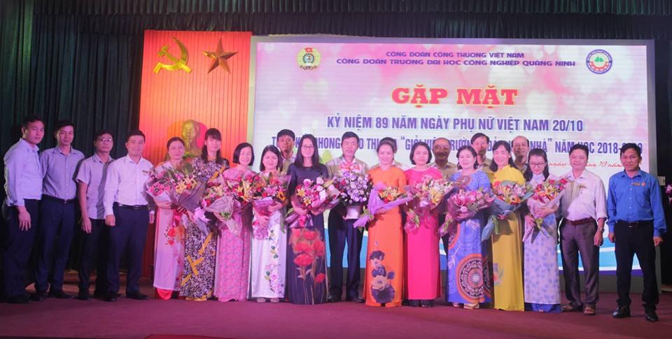 Chương trình gặp mặt kỷ niệm 89 năm ngày thành lập Hội liên hiệp Phụ nữ Việt Nam trường ĐHCNQN
