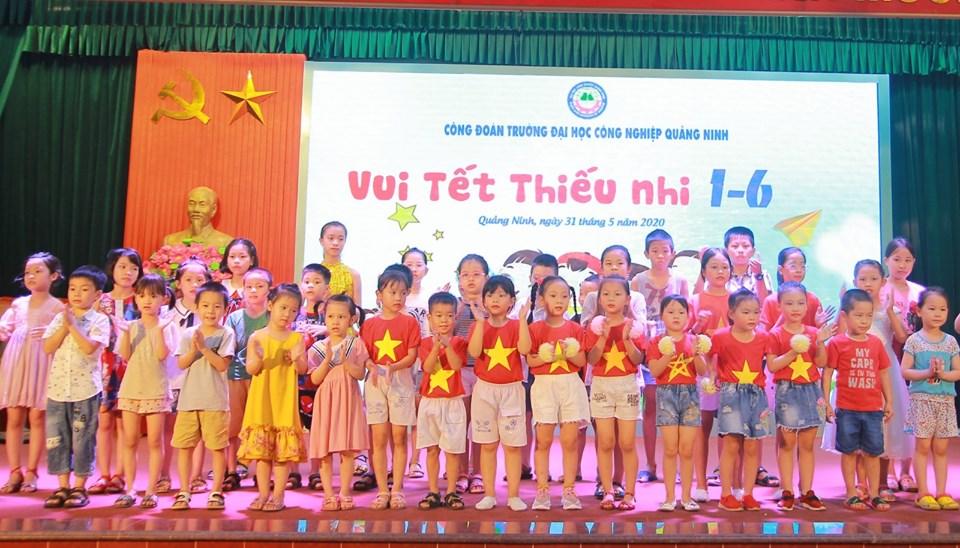 Công đoàn trường Đại học Công nghiệp Quảng Ninh phối hợp tổ chức chương trình Vui tết thiếu nhi 1/6 cho các cháu TNNĐ
