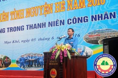 Đoàn trường ĐH Công nghiệp Quảng Ninh hưởng ứng chiến dịch Thanh niên tình nguyện hè 2016