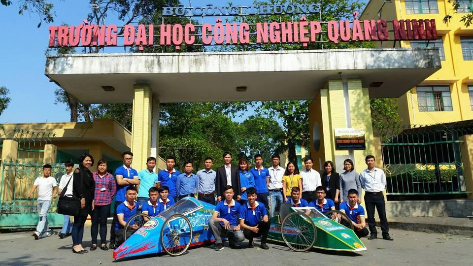 Sinh viên trường Đại học Công nghiệp Quảng Ninh  tham gia cuộc thi Lái xe sinh thái EMC năm 2018