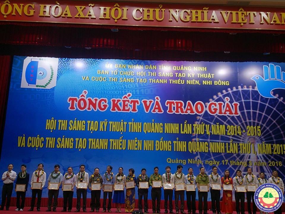 Trường đại học Công nghiệp Quảng Ninh đạt giải nhất Hội thi Sáng tạo kỹ thuật tỉnh lần thứ V