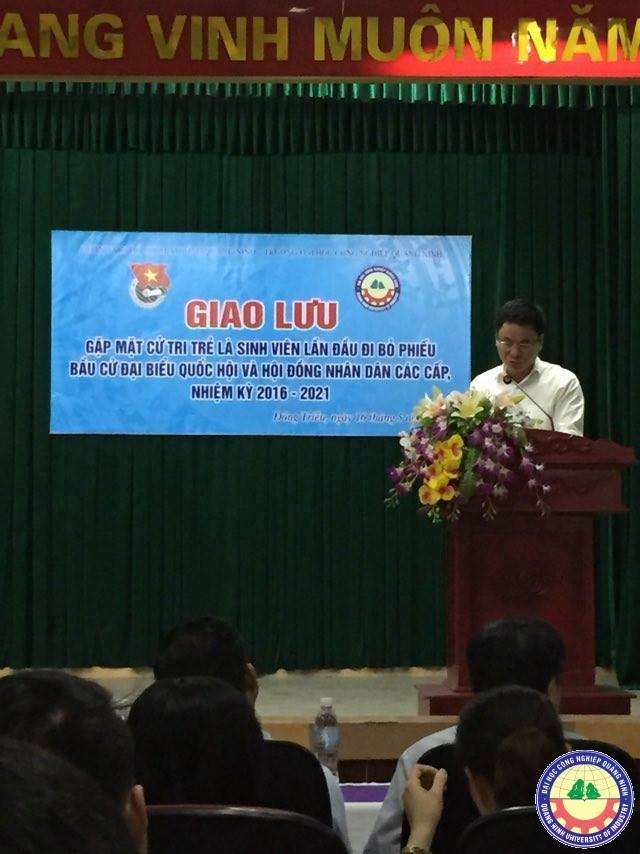 Giao lưu, gặp mặt với cử tri trẻ lần đầu tham gia bầu cử  tại trường Đại học Công nghiệp Quảng Ninh