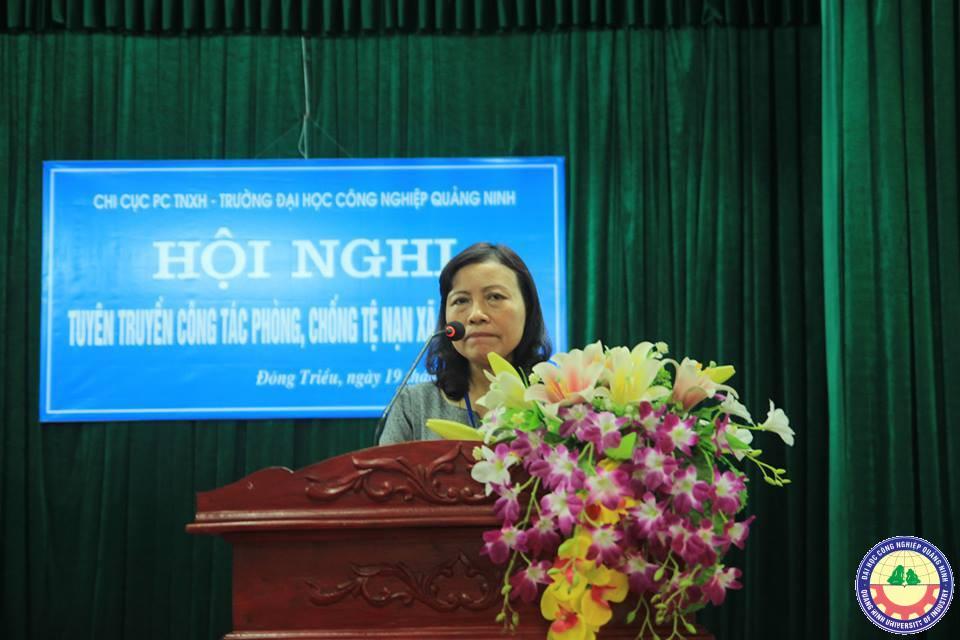 Hội nghị tuyên truyền công tác phòng, chống tệ nạn xã hội tại trường ĐH Công nghiệp Quảng Ninh