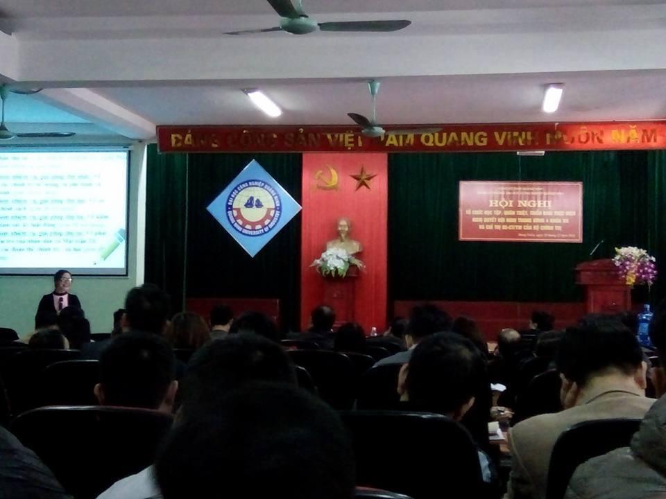 Đảng ủy trường ĐHCN Quảng Ninh tổ chức học tập, quán triệt, triển khai thực hiện Nghị quyết Hội nghị Trung ương IV khóa XII và Chỉ thị 05 – CT/TW của Bộ chính trị