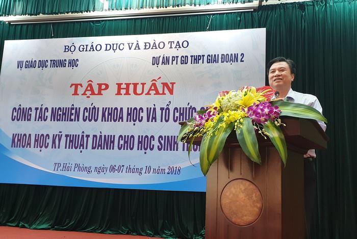 Trường ĐH Công nghiệp Quảng Ninh tham gia Tập huấn công tác NCKH và tổ chức cuộc thi KHKT dành cho HS Trung học