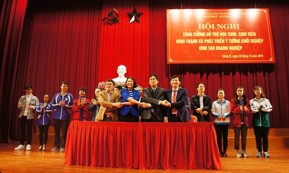 Trường ĐH Công nghiệp Quảng Ninh tham gia Hội nghị tăng cường hỗ trợ HSSV hình thành và phát triển ý tưởng khởi nghiệp, ươm tạo doanh nghiệp