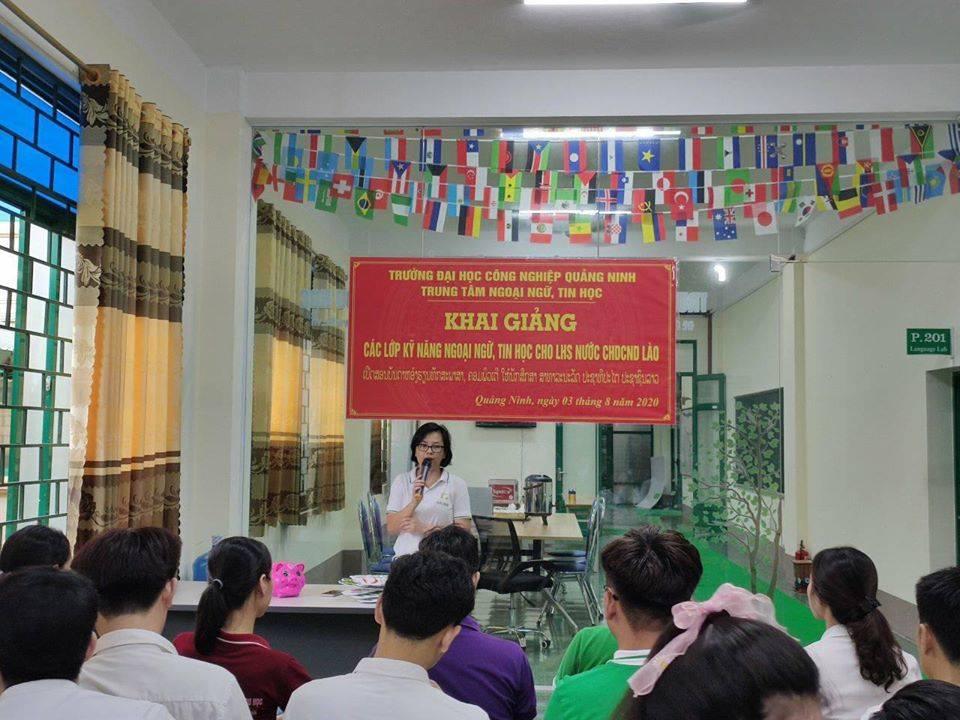 Trung tâm FLIC- Đại học Công nghiệp Quảng Ninh khai giảng các lớp Ngoại ngữ, Tin học miễn phí cho các LHS Lào trong kỳ nghỉ hè