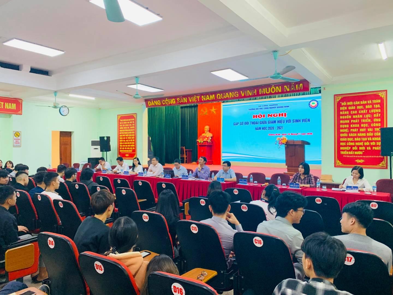 Hội nghị gặp mặt đối thoại giữa đại biểu sinh viên và Giám hiệu năm 2020 – 2021