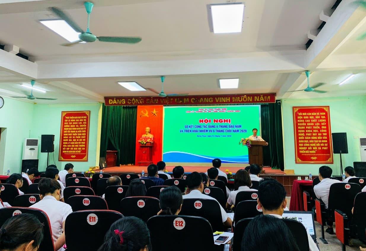 Đảng bộ Trường Đại học Công nghiệp Quảng Ninh tổ chức Hội nghị sơ kết công tác Đảng  6 tháng đầu năm, triển khai nhiệm vụ 6 tháng cuối năm 2020