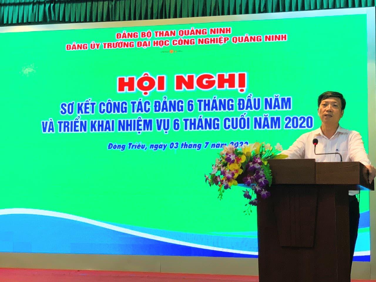 Đ/c Lã Tuấn Quỳnh - UV BTV, Chủ nhiệm UBKT Đảng bộ than Quảng Ninh phát biểu chỉ đạo hội nghị